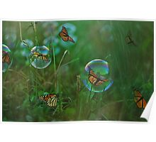 As Free As A Butterfly Poster