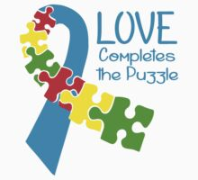 Love Completes The Puzzle Kids Clothes