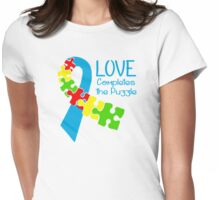 Love Completes The Puzzle Womens Fitted T-Shirt