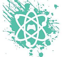 Atom Controller Paint Splat Photographic Print
