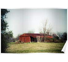 RED BARN IN CLARKSVILLE Poster