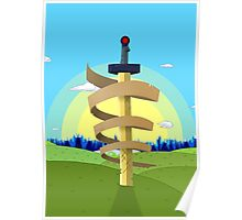 Finns Sword with Landscape background Poster