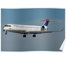 N807SK Delta Connection Skywest CRJ-900LR Poster