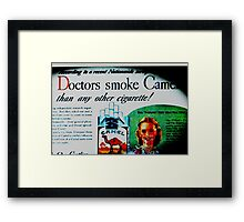 According to a recent nationwide survey... Framed Print
