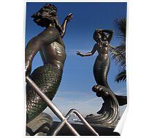 Neptune And Siren - Neptuno Y Sirena Poster