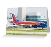 Holding N383SW Boeing 737-7H4 Southwest Airlines Arizona One Greeting Card