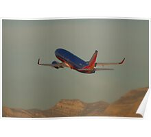 N361SW Southwest Airlines Boeing 737-7H4 Take Off Poster