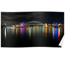 Sydney Habour at Night - Sydney Vivid Festival Poster