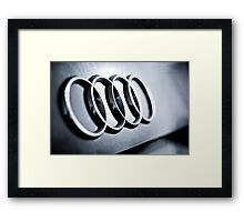 Audi Emblem - Rear Framed Print
