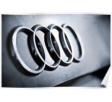 Audi Emblem - Rear Poster