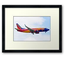 N383SW Arizona One Southwest Airlines Boeing 737-7H4 Approach Framed Print