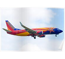 N383SW Arizona One Southwest Airlines Boeing 737-7H4 Approach Poster