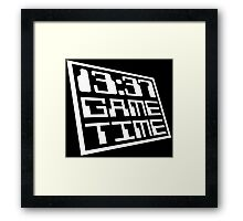 Game Time 13:37 Framed Print