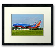N443WN Southwest Airlines Boeing 737-7H4 Framed Print