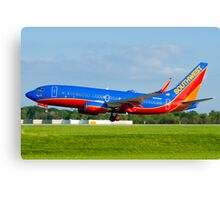 N443WN Southwest Airlines Boeing 737-7H4 Canvas Print