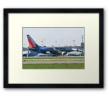 N715SW Southwest Airlines Boeing 737-7H4 Shamu Framed Print