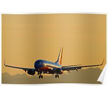 Southwest Airlines Boeing 737 Arrival Poster