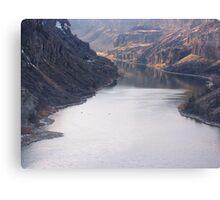The Bottom of Shoshone Falls Snake River-2008 Canvas Print