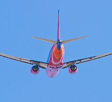 Tail shot of a Southwest Airlines Boeing 737 by Henry Plumley