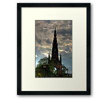 Gothic Rocket Ship Framed Print