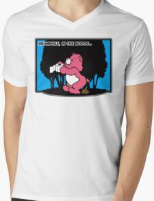 Meanwhile, in the woods... Mens V-Neck T-Shirt