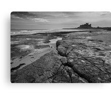 Bamburgh castle and coast No4  Canvas Print