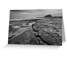 Bamburgh castle and coast No4  Greeting Card