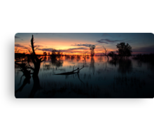 End of the Day - Menindee NSW Canvas Print
