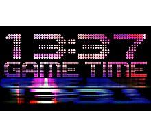 Future Game Time 13:37 Photographic Print