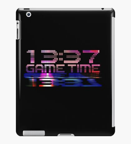 Future Game Time 13:37 iPad Case/Skin