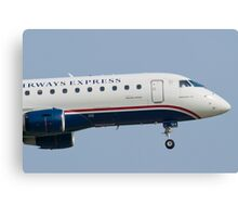 Tight Shot of US Airways Express N124HQ on Approach Canvas Print