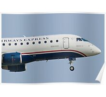 Tight Shot of US Airways Express N124HQ on Approach Poster