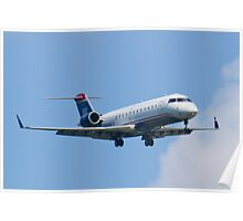 N404AW US Airways Express On Approach Poster
