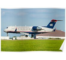 N428AW US Airways Express CL-600-2B19 Poster