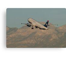 N631AW US Airways Airbus A320-231 Canvas Print