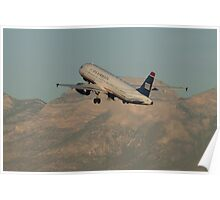 N631AW US Airways Airbus A320-231 Poster