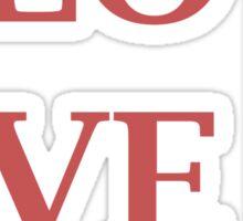 Rectangle Love Sticker