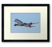 Gear Up G-VAST Virgin Atlantic Airways Boeing 747-400 Framed Print
