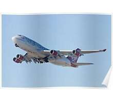 Gear Up G-VAST Virgin Atlantic Airways Boeing 747-400 Poster