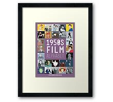 1950s Film Alphabet Framed Print