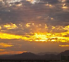 Sunrise Burning Through the Clouds by Henry Plumley