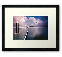 Not a Ripple - Canada Bay, NSW Framed Print