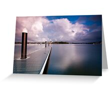Not a Ripple - Canada Bay, NSW Greeting Card