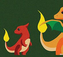 Charmander Evolution by David Thomas