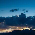 Deep Blue Sunset Summerlin Nevada  by Henry Plumley