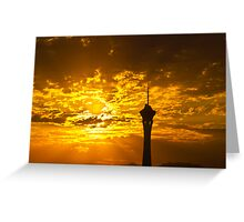Sunrise Behind the Stratosphere  Greeting Card