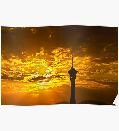 Sunrise Behind the Stratosphere  Poster