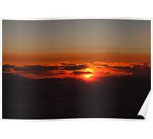 Slipping Away Sunset Poster