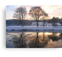 River Tweed in Winter Canvas Print
