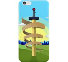 Finns Sword with Landscape background iPhone Case/Skin